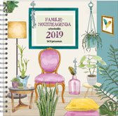 Familienotitie-agenda 17-maands 'Living' (harde kaft) (t/m 6 personen) 2018/2019