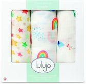 Lulujo swaddle bamboo 120x120 - High in the Sky (3-pack)