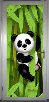 Deurposter 'Panda' - deursticker 75x195 cm