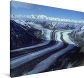 Gletsjer in het Nationaal park Kluane in Yukon Canvas 140x90 cm - Foto print op Canvas schilderij (Wanddecoratie woonkamer / slaapkamer)