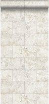 Origin behang kalkstenen blokken beige - 347579 - 53 cm x 10.05 m