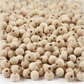 Houten kralen, d: 8 mm, gatgrootte 2 mm, 500 stuks, china berry