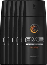 Axe Musk For Men - 6 x 150 ml - Deodorant Spray - Voordeelverpakking
