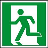 Nooduitgang bord naar links ISO 7010