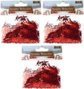 Confetti rode engeltjes 45 gram - Kerstversieringen engel confetti rood