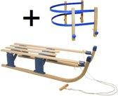 Slede hout opklapbaar 110cm de luxe + rugleuning 00290 (houten slee)