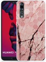 Huawei P20 Pro Hoesje Pink Marble
