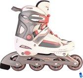 Inline Skates InlineSkates - Roze/Wit/Grijs - Junior - Verstelbaar - Maat 38-41