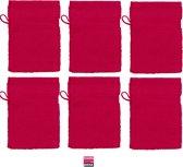 JASSZ Zware Katoen Washandjes 6 Pack Rood
