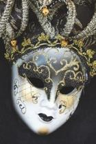 Venetian Mask - Blank Notebook with Fleur de Lis Corners