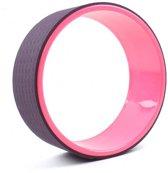 Yoga wiel - Yoga Wheel - Pilates, Fitness en stretch oefeningen - joga wiel - Roze zwart