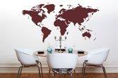 MikaMax - Muursticker - Wereldkaart - World Map - Rood