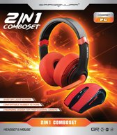 2in1 Combo Set (Gaming Headset + Mouse) Red Edition