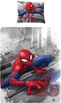 Spiderman - Dekbedovertrek - Eenpersoons - 140x200 cm + 1 kussensloop 60x70 cm - Multi