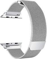 Apple Watch Series 5 (40 mm) Bandje - Milanees Bandje met Magneetsluiting - iCall - Zilver