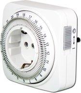 EcoSavers Tijdschakelklok Analoog Timer / Tijdschakel klok 24 uurs en instelbaar per tijdsinterval van 15 minuten - Nederlands stopcontact (niet voor België) - schakelt apparaat automatisch aan en uit op de vastgestelde tijdstippen