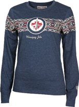 NHL Winnipeg Jets Shirt Snowflakes Lady XL