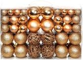 vidaXL Kerstballenset 6 cm rose/goud 100-delig