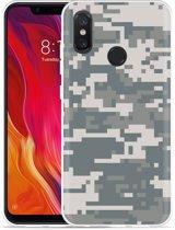 Xiaomi Mi 8 Hoesje Army Digi Camouflage
