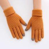 Wollen Handschoenen met Touchscreen Vingers - Geel