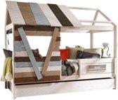 Lifetime Boomhut - Bed - white wash - 102x207cm