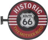 Signs-USA Route 66 - Retro Wandbord - Metaal - 30x37 cm