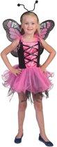 Jurkje Vlinder/Balerina - Roze - Verkleedkleding - Maat 116/128