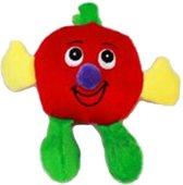 Een knuffeltje in de vorm van een appel