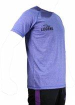 Legend Sports Dryfit Sportshirt Melange Blauw Maat Xxl