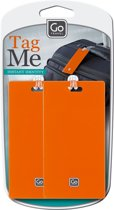 Go Travel - Bagage Label - Tag Me -  2 stuks - Oranje