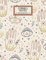 Cornell Notes Notebook: Large College Ruled Cornell Notebook Paper Index and Numbered Page Interior: Boho Design: Science