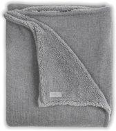 Jollein Natural knit Deken 100x150cm grijs / teddy