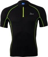 Rogelli Perugia Jersey SS - Fietsshirt - Korte Mouw - Zwart/Geel - Maat M