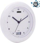 Balance Badkamer Klok/Thermometer - Analoog - 17 cm - Wit