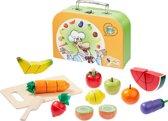"""howa Speelgoed Snijset  """"Fruit en Groenten"""" in een koffer 4874"""