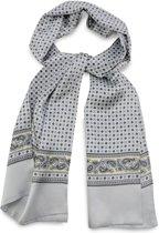 We Love Ties Herensjaal Patterned Silk, grijs / geel