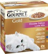 Gourmet Gold - Luxe Mix - kattenvoer - 8x100 g