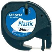 Letttertape Dymo Letratag 91201 Wit-Zwart