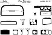 Richter Prewoodec Interieurset Fiat Ducato 8/1999- 20-delig - Wortelnoot