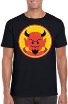Halloween - Halloween duivel t-shirt zwart heren - Rode duivels shirt S