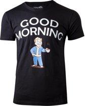 Fallout Heren Tshirt -2XL- Good Morning Zwart