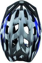 Ventura Fietshelm - 54-58 cm - Zilver/Blauw