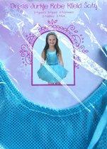 Prinsessen jurk Blauw 4 a 5 jaar