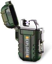 Elektrische Aansteker Camo | Survival Aansteker met Koord | Waterbestendig (incl. USB-Kabel)