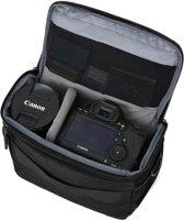 Compacte SLR/DSLR Camera Schoudertas met Trolleyriem en Regenhoes - Zwart
