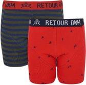 Retour Jeans Jongens Boxershort - Bright red - Maat 122/128