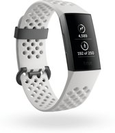 Fitbit Charge 3 special edition - activity tracker - graphite/white silicone