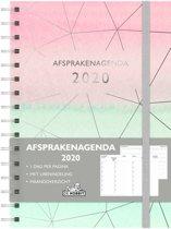 Afsprakenagenda -2020 - A5 formaat - 20,5x15,5cm - D4 - Ringband