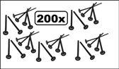 200x Tonicstamper zwart 17 cm