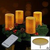 Led kaarsen voor advent met afstandsbediening